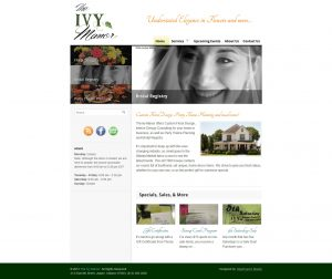 A screenshot of the Ivy Manor website redesign project completed by IdeaFusion Media.