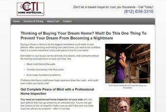 CTI Home Inspection Web Site Design