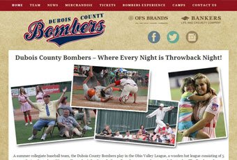 Dubois County Bombers Website Design Thumbnail