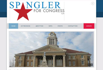 Spangler for Congress Website Design Thumbnail