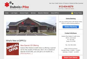 Dubois-Pike Credit Union Site Redesign