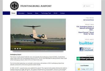 Huntingburg Airport Website Design Thumbnail