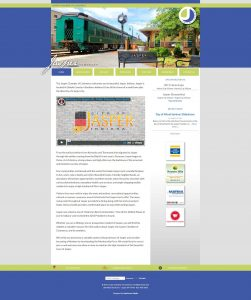 A screenshot of the responsive website design for the Jasper Chamber of Commerce.