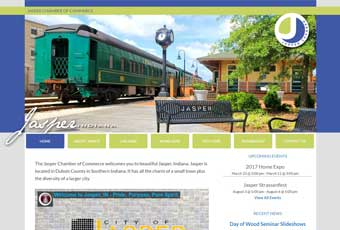 A thumbnail screenshot of the Jasper Chamber of Commerce responsive website.