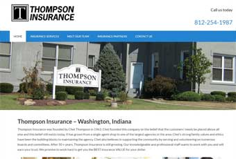 Thompson Insurance Website Redesign Thumbnail