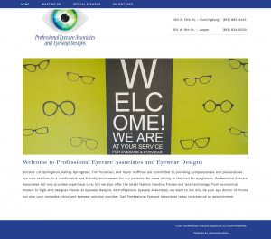 Professional Eyecare Associates Web Site Redesign Screenshot