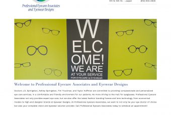 Professional Eyecare Associates Web Site Redesign